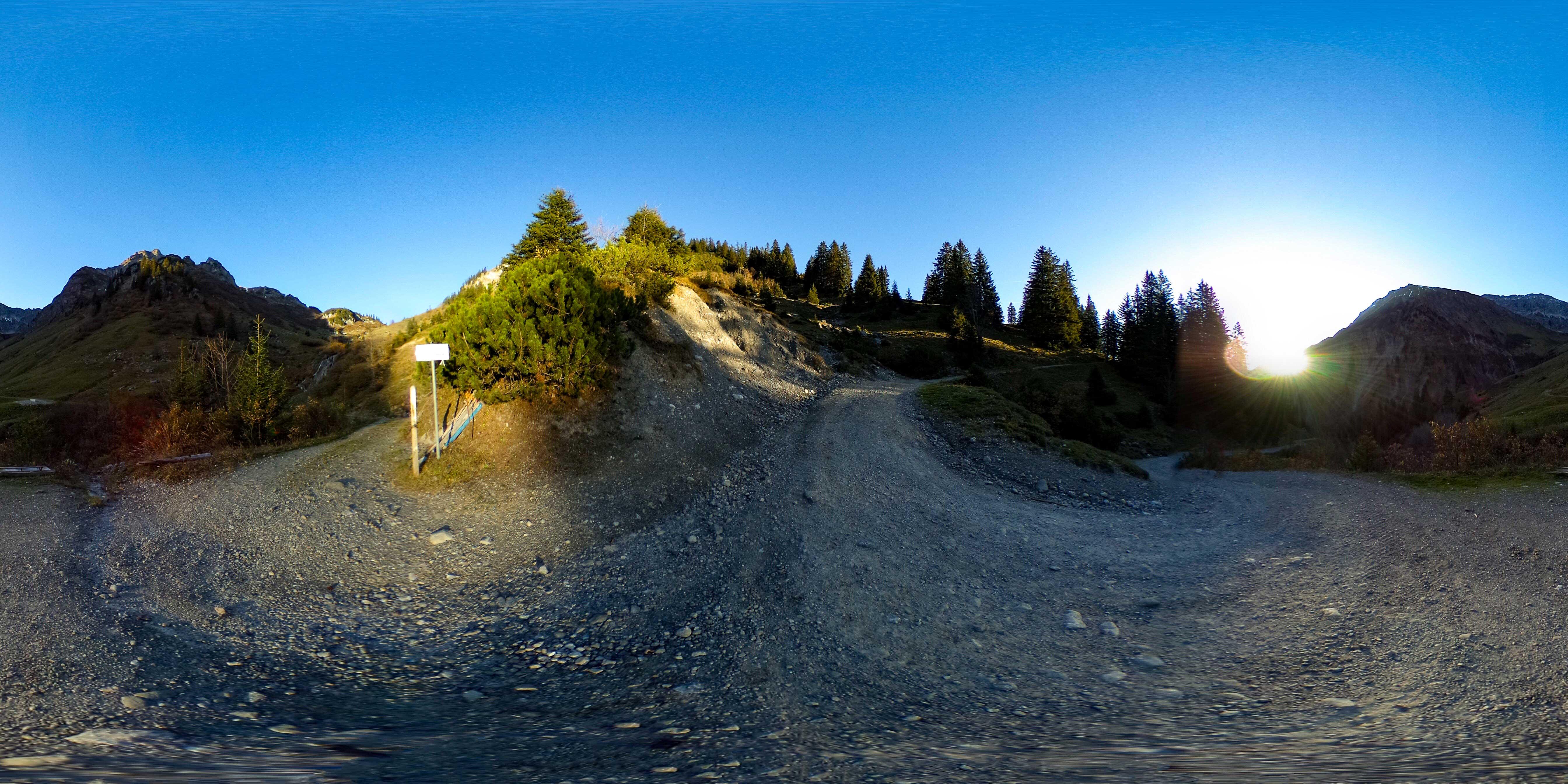 360° Panorama Tour - Zustieg zur Biberacher Hütte