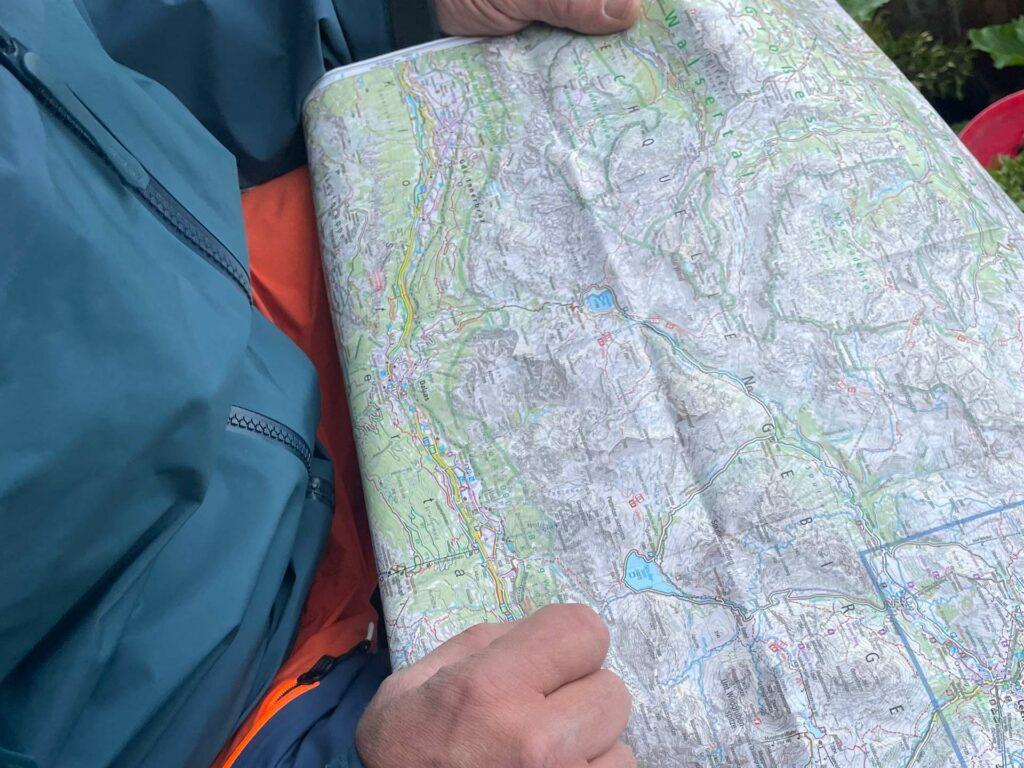 Wanderkarte Lechquellgebirge, Kartenmaterial für die Lechquellrunde